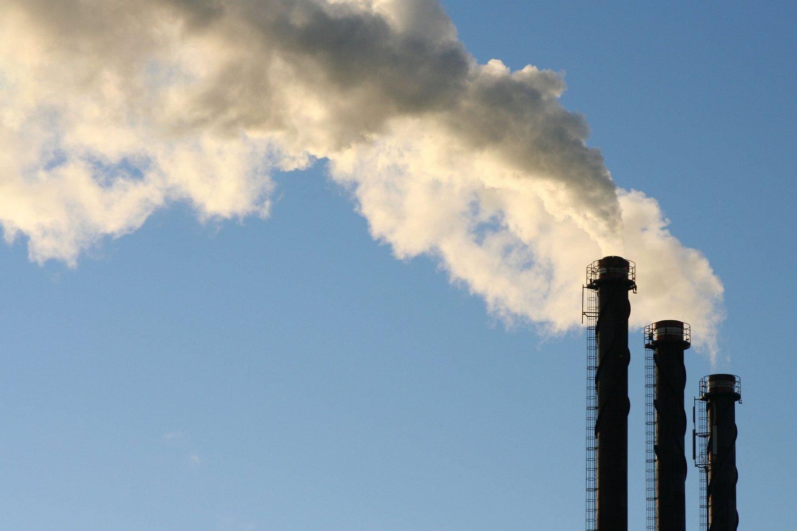 factory chimneys global warming