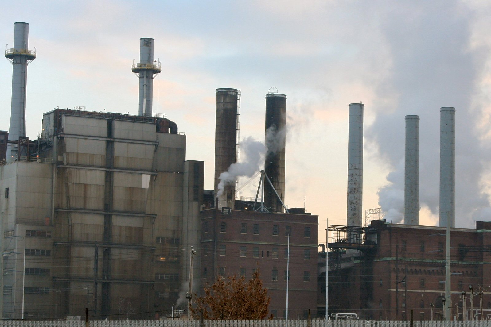 global warming industrial stacks
