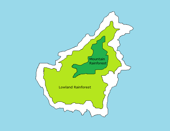 detailed map of borneo