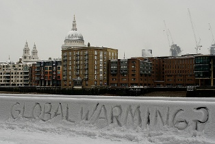 global warming snow in london